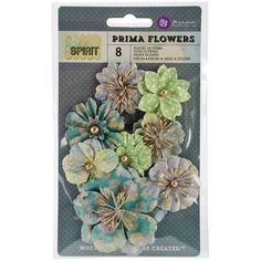 "Free Spirit Flowers-Paper Beatniks 1.75"" To 2.75"" 8/Pkg | Overstock™ Shopping - Big Discounts on Prima Marketing Craft Flowers"