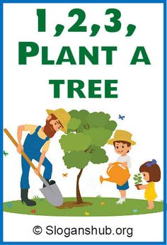 Trees are vital for this planet as they give us oxygen, absorb carbon dioxide, stabilize the soil and give life to the world's wildlife. They also provide Slogans On Planting Trees, Words Quotes, Life Quotes, Sayings, Slogans On Save Trees, Tree Slogan, Drawing Competition, Love The Earth
