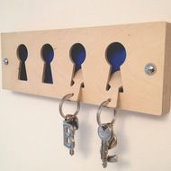 key holder each key 'ring' could have a different color for easy differentiation