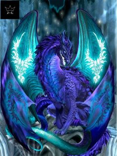 5D DIY Blue Dragon Mosaic Craft Art