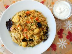 Yummy rice dish prepared with Basmati rice and mixed vegetable.