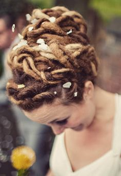 Pretty Bun Dreadlock Hairstyles