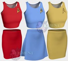 Final Frontier Cosplay Outfit - Star Trek Cosplay, Star Trek Costume, Command Cosplay, Engineering D Science Costumes, Trio Halloween Costumes, Star Trek Cosplay, Harry Potter Shirts, Fall Skirts, Fitted Skirt, Cosplay Outfits, Flare Skirt, Two Piece Skirt Set