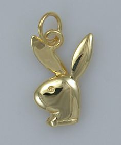 It took a while but I finally found it! A simple gold playboy bunny pendant. Now all I have to do is find the right chain.  9ct Gold Playboy Bunny Charm Pendant by PlatinumBullion on Etsy