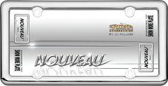 Nouveau, Chrome Plastic License Plate Frame