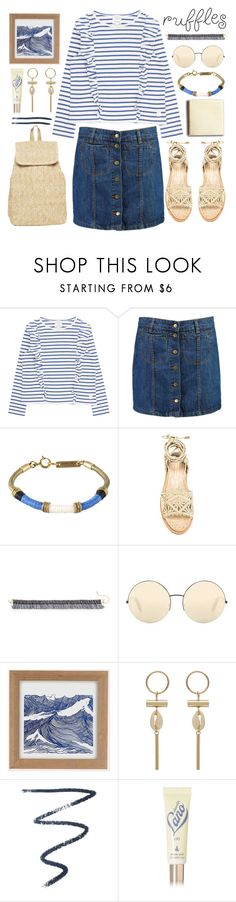 """ocean breeze"" by foundlostme ❤ liked on Polyvore featuring Boohoo, Isabel Marant, Paloma Barceló, Natasha, Victoria Beckham, Urban Outfitters, By Terry, Lano and ruffledtops"