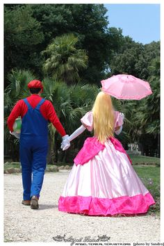 Super Mario and Peach - 24 - by Outlanders on DeviantArt Toddler Halloween Costumes, Cute Costumes, Cute Halloween, Cosplay Costumes, Funny Cosplay, Cute Cosplay, Best Cosplay, Cosplay Ideas, Super Mario Bros