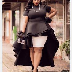 Black women peplum blouse , high low peplum top, plus size dress,African print dress plus size,high Vestidos Plus Size, Plus Size Dresses, Plus Size Outfits, Plus Size Peplum, African Fashion Dresses, African Dress, Fashion Outfits, Ankara Dress, Fashion Tips