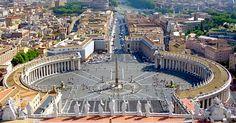 St. Peters' Square and Basilica, Rome, Lazio