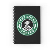 Freie Socken Kaffee Spiralblock