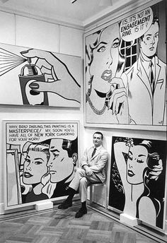 View Roy Lichtenstein, Leo Castelli Gallery, New York by Bill Ray on artnet. Browse more artworks Bill Ray from Monroe Gallery of Photography. Roy Lichtenstein Pop Art, Jasper Johns, Cultura Pop, Wassily Kandinsky, Rembrandt, Art Public, Street Art, Art Populaire, Robert Rauschenberg