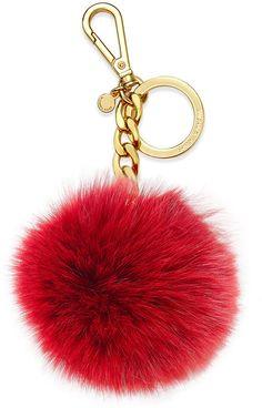 MICHAEL Michael Kors Fur Pom Pom Keychain I want the Blk/red one!