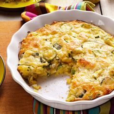 Zucchini Onion Pie Recipe -We get a lot of zucchini when it's in season. This is a good and different way to use the excess. —Lucia Johnson, Massena, New York