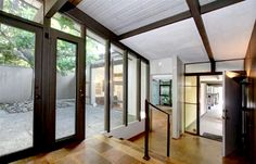 Dark window frames?  Black? A Buff & Hensman mid-century modern home in Pasadena