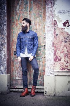 """We have published """"Chris John Millington - Liam Oakes Photography"""" in the Fashion category on March Please check out the inspiring photography by UK based photographers Hipster Fashion, Uk Fashion, Urban Fashion, Beard Fashion, Fashion Shoot, Street Fashion, Editorial Fashion, I Love Beards, Awesome Beards"""
