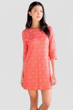 Melrose Geometric Lace Dress