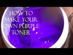 DIY- How To Make Your Own Purple Toner (+playlist) Purple Shampoo Toner, Purple Toner, Dyed Hair Purple, Diy Shampoo, Hair Color Pink, Yellow Blonde Hair, White Blonde, Kylie Jenner Blue Hair, Hair Beauty