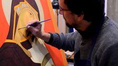 5c balayage esprits Tutoriel pour apprendre à peindre une icône.
