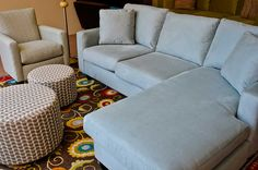 Couch found! Versatile couch that has a chaise cushion, as well as a cushion for just a regular 3-seater. Desi Sofa having 10% off sale this week. Lots of fabric colors to choose from,