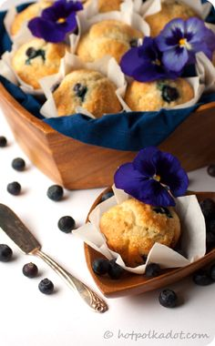 vanilla bean blueberry muffins - can subsitute 1tsp vanilla extract if vanilla bean is unavailable.