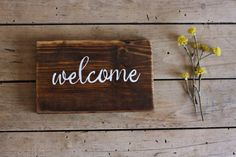 Welcome Sign Rustic Home Decor Farmhouse Sign by kashturana