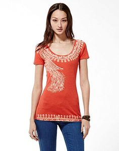 Indian Peacock T-Shirt - Graphic Tees - Lucky Brand Jeans