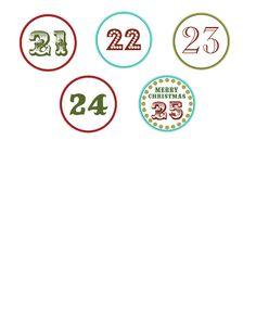free numbers download cont'd Chocolate Advent Calendar, Diy Advent Calendar, Christmas Countdown, Diy Christmas Ornaments, Christmas Ideas, Christmas Activities, Christmas Printables, Pochette Diy, Advent Season