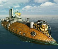 Submarine steampunk