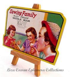sewing family needle book. liza cowan ephemera collections, via Flickr.