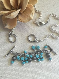 Turquoise Interchangeable Beaded Necklace #H100
