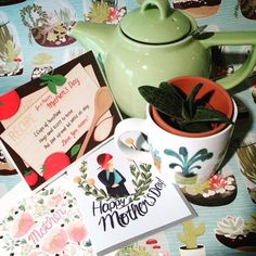 Cup of tea with mum Or a cup a suculant ! Cards gifts/homeand more! Beautiful selection of succulents next door @botanystudio our lovelyneighboursgreat selection of mugs Red Pegasus #mothersday #mothersdaygifts #mothersdaycards #teapots #greatgifts  #shoplocal #succelents #greatneighbors #grateful #wrappingpaper by redpegasusto