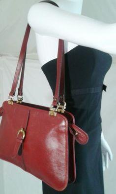 Vintage Etienne Aigner Leather Bag Oxblood Red Medium *U.S Residents Only*