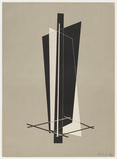 László Moholy-Nagy. Untitled from Konstruktionen. Kestnermappe 6 (Constructions. Kestner Portfolio 6). 1923