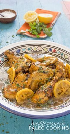 Nacera's Lemon Ginger Chicken Tajine.  A delicious recipe from the beautiful new cookbook, Mediterranean Paleo by Caitlin Weeks of GrassFed Girl
