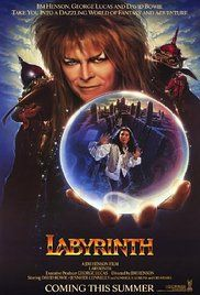 LABYRINTH (Jennifer Connelly, David Bowie, 1986). A selfish 16-year old girl is given 13 hours to solve a labyrinth and rescue her baby brother when her wish for him to be taken away is granted by the Goblin King.