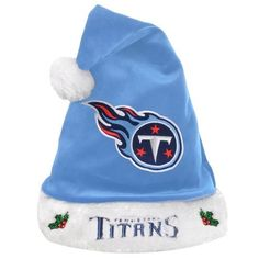 NFL Tennessee Titans Santa Hat - Light Blue  https://allstarsportsfan.com/product/nfl-tennessee-titans-santa-hat-light-blue/  Officially Licensed Made from soft plush material Measures 17 inches