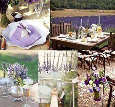 Decoración boda en tonos lavanda: fotos ideas originales - Ideas decoración mesa boda lavanda