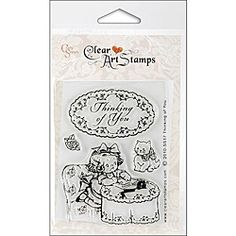 Crafty Secrets 'Thinking of You' Small Clear Art Stamps Sheet, $6.17
