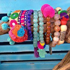 Hippie Chic Turquoise Hamsa bracelet por VivalaVirgen en Etsy