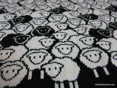 Ravelry: Counting Sheep Blanket pattern by Lisa Hannan Fox Double Knitting Patterns, Fair Isle Knitting Patterns, Knitting Charts, Hand Knitting, Cross Stitch Patterns, Crochet Patterns, Vintage Knitting, Motif Fair Isle, Fair Isle Chart