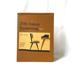 vintage 1960's 20th century typewriting book by RecycleBuyVintage, $15.00