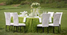 Grass wedding table