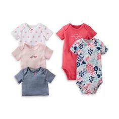 Carter's® 5-Pack Floral Bodysuit - buybuyBaby.com
