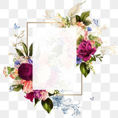 Piękna Rama Vintage png i psd Flower Background Wallpaper, Background Vintage, Flower Backgrounds, Vintage Frames, Flores Vintage Vector, Frame Flores, Png Floral, Adobe Photoshop, Molduras Vintage