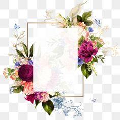 Piękna Rama Vintage png i psd Flower Background Wallpaper, Background Vintage, Flower Backgrounds, Vintage Frames, Flores Vintage Vector, Frame Flores, Png Floral, Adobe Photoshop, Molduras Vintage