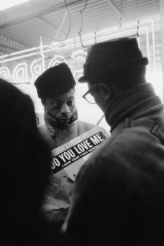 James Baldwin in Harlem, 1963. Photo by Steve Schapiro