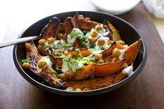 Smitten Kitchen: Roasted yams and chickpeas with yogurt