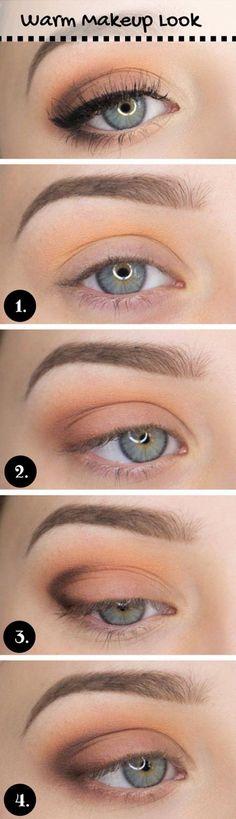 How to Do Casual Makeup Look   Everyday Makeup by Makeup Tutorials at http://www.makeuptutorials.com/makeup-tutorial-12-makeup-for-blue-eyes