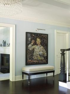 Sky Blue and Art Adorned - ELLEDecor.com