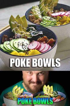 Si quieres una receta fácil, sabrosa y muy sana, e ideal para el buen tiempo, no debes perderte estas Pokes, de #carne y de #pescado, que te van a enamorar!!.   Los #PokeBowl son un plato hawaiano totalmente personalizable, que esta siendo tendencia en todo el país, así que ya sabes, si quieres saber como se hace....!!! Bowls, Green Beans, Mexican, Vegetables, Ethnic Recipes, Food, Hawaiian, Entrees, Tasty